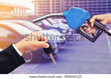 refill car oil  concept background - stock photo