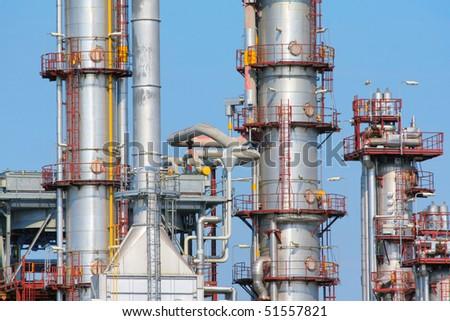 refinery - stock photo