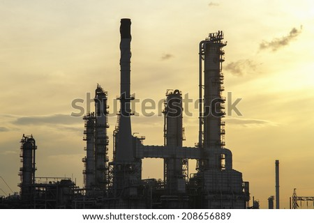 Refinery in morning