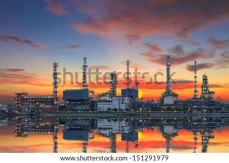Refinery in the morning. - stock photo