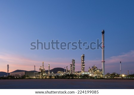 Refinery industrial - stock photo