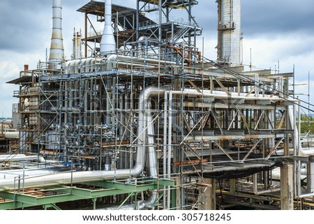 Refinery Industry  production petroleum and pipeline. - stock photo