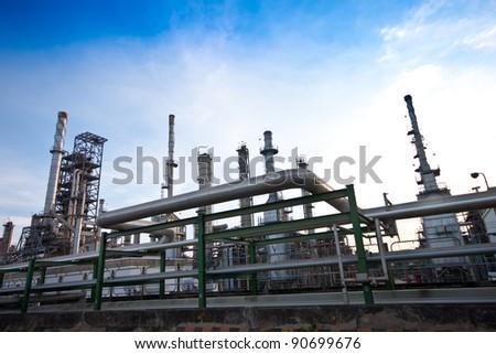 Refinery plant - stock photo