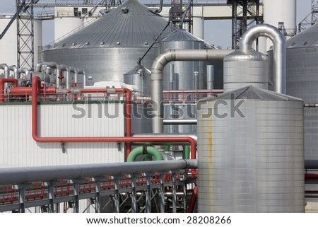 Refinery plant for ethanol bio fuel - stock photo