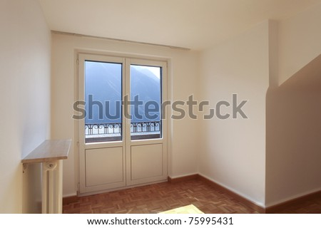refitted lovely apartment, empty room with window