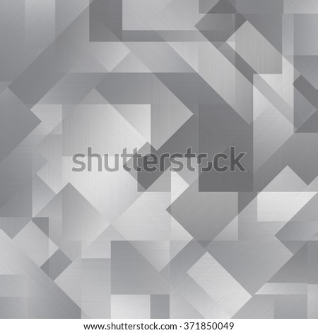 Reflect metal texture neutral background with brushed chrome surface - stock photo