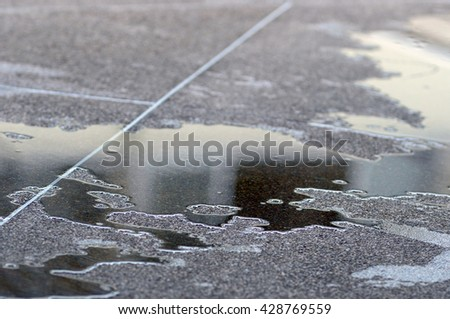 reflect of water on ground