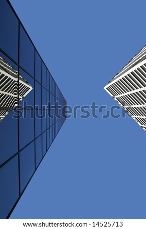 Reflected building - stock photo