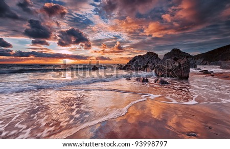 Reflected Skies - stock photo