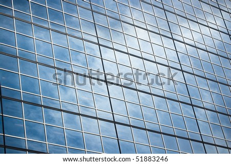 reflection at building glass background