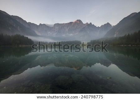 Reflection at Laghi di Fusine,Alps,Italy