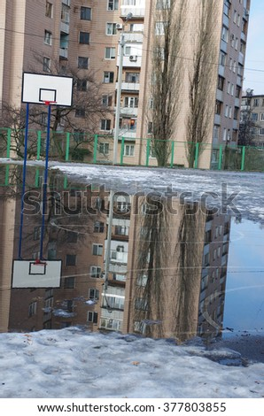 reflection basketball court