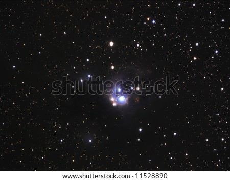 Reflection Nebula in Cepheus NGC7129 - stock photo