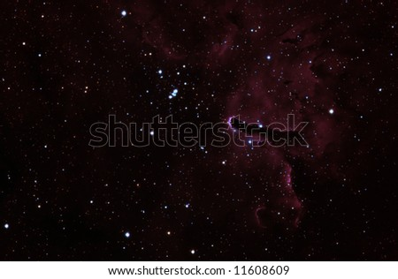 Reflection Nebula in Vulpeca NGC6820 - stock photo