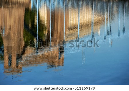 Reflection of Bridge in Wroclaw, Poland, Eastern Europe