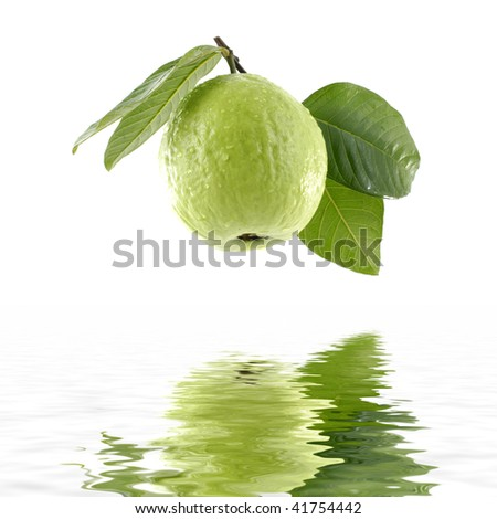 Reflection of fresh guavas