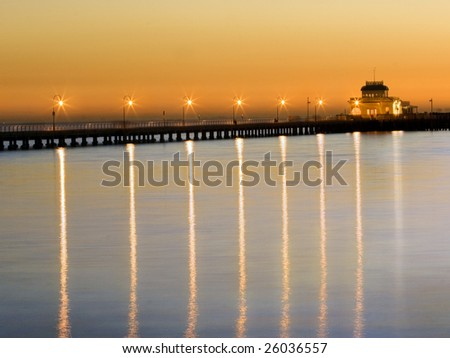 Reflection of Lights - stock photo