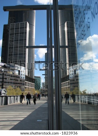 reflection of the buildings