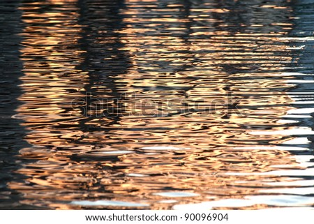 Reflection on water. - stock photo
