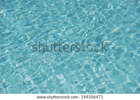 Reflection over water in a swimming pool