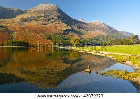 Reflections of the mountain in Buttermere