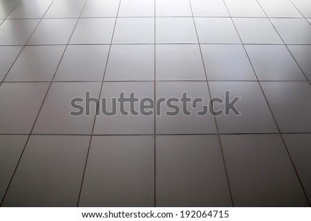 Reflective floor metal square texture. - stock photo