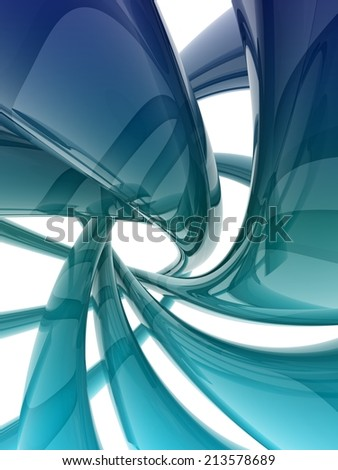 reflective helix shape on white background.