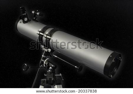Reflector Telescope - stock photo