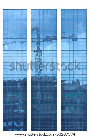 reflexion of building - stock photo