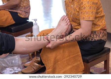 Reflexology foot massage thai spa treatment stock photo 292340726 shutterstock - Salon massage thai naturiste ...