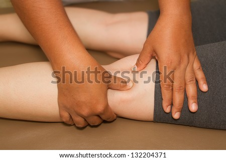 reflexology leg massage ,spa thai massage
