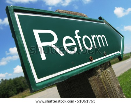 REFORM road sign