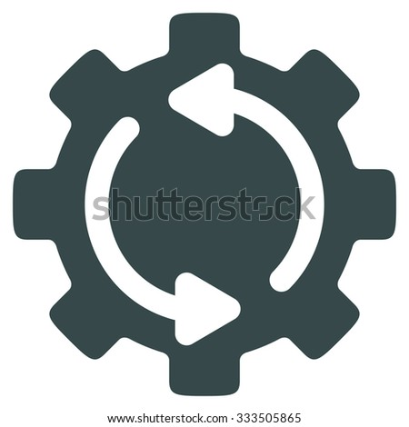 Refresh Engine raster icon. Style is flat symbol, soft blue color, rounded angles, white background. - stock photo