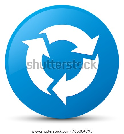 Refresh icon isolated on cyan blue round button abstract illustration