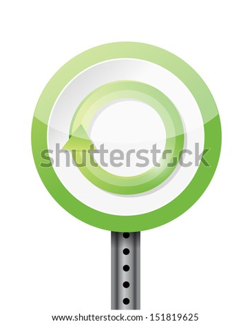 refresh or renew road sign illustration design over a white background - stock photo
