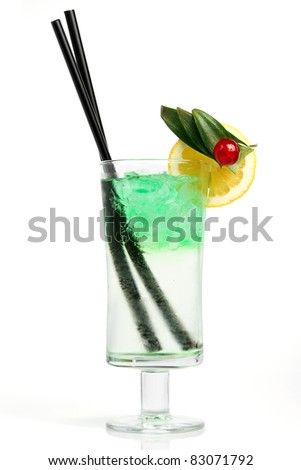 Refreshing alcohol drink - stock photo