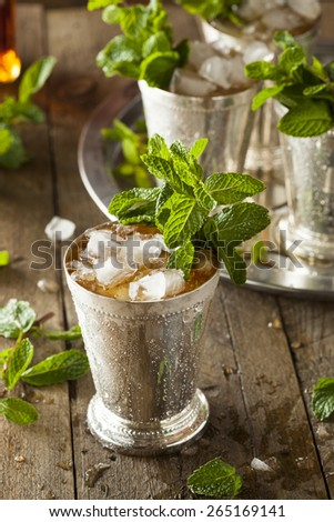 Refreshing Cold Mint Julep for the Derby - stock photo