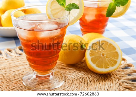 Refreshing iced tea makes a perfect drink on a hot summer day