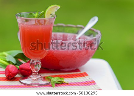 Refreshing Juice Cocktail Drink - stock photo