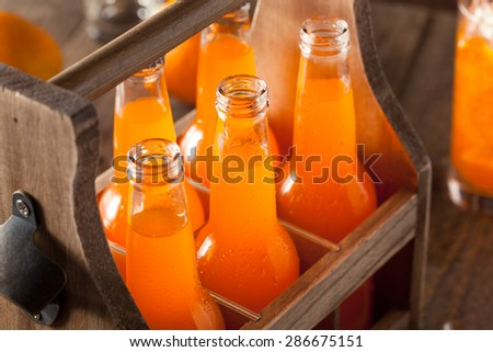 Refreshing Orange Cream Soda Ready to Drink - stock photo