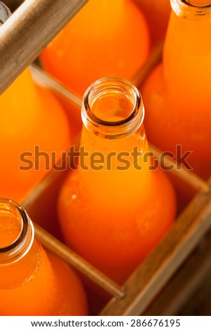 Refreshing Orange Cream Soda Ready to Drink - stock photo