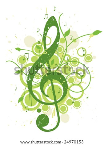 Refreshing Spring Music Background - stock photo