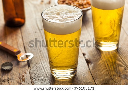 Refreshing Summer Pint of Beer Ready to Drink - stock photo