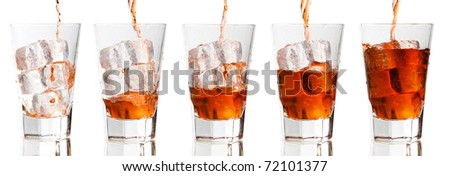 Refreshment Progression - stock photo