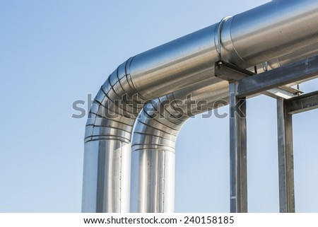 Refrigerant pipes - stock photo