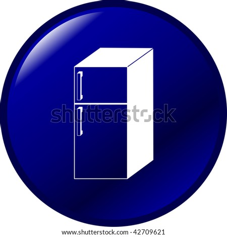 refrigerator button - stock photo