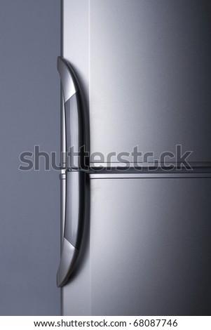 Refrigerator door - close up - stock photo