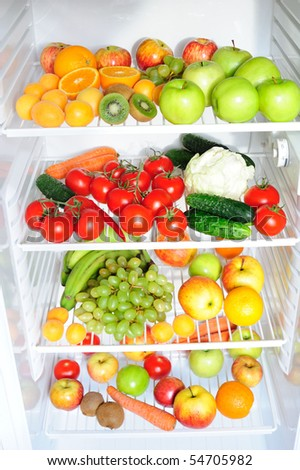 Vegetable Fridge Stock Photos Images Pictures