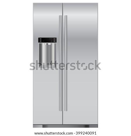 Refrigerator.   illustration isolated on white background. Raster version - stock photo
