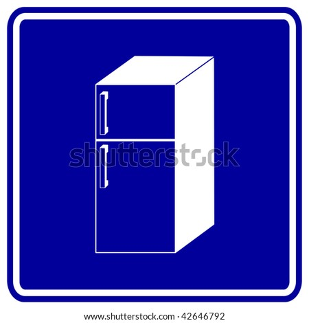 refrigerator sign - stock photo